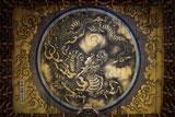 法堂の鏡天井に描かれている雲竜図(狩野探幽筆)